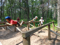 Confidence Course (kid-friendly obstacle course)